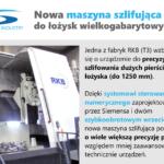 Nowa maszyna do precyzyjnego szlifowania łożysk wielkogabarytowych